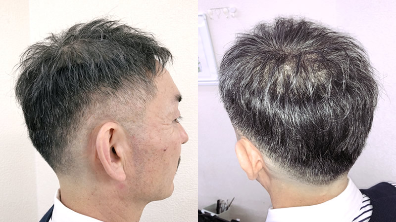 かつらで出来るショートヘア(短髪)その2
